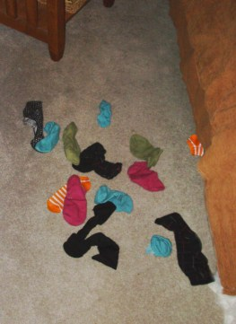 socks by the bed